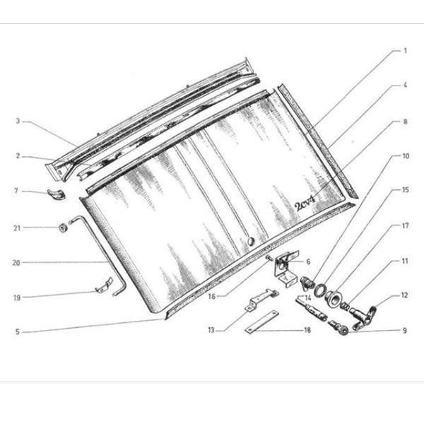 Citroen 2CV - Citroen Kacsa csomagtérajtó zár