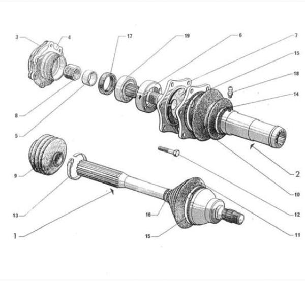 Citroen 2CV - Citroen Kacsa féltengely
