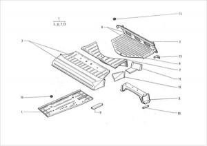 Citroen 2CV hátfal-karosszéria alsó rész