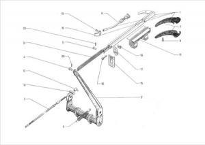 Citroen 2CV kézifék