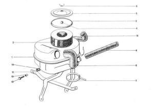 Citroen 2CV légszűrő0
