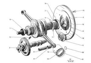 Citroen 2CV motor alkatrészek